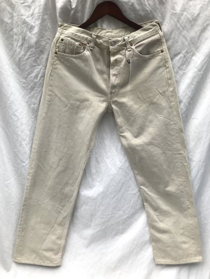 90's ~ Old Euro Levi's 501 Made in FRANCE BEIGE 32 x 30 Good Condition