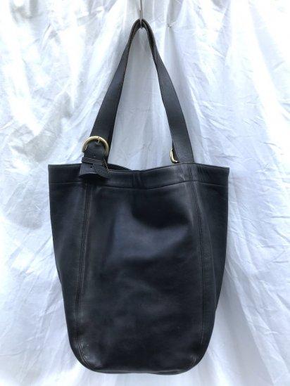 Old COACH Leather Tote Bag MADE IN U.S.A Black