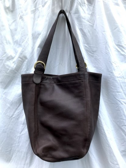 Old COACH Leather Tote Bag MADE IN U.S.A Brown