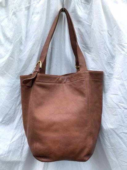 Old COACH Leather Tote Bag MADE IN U.S.A Tan