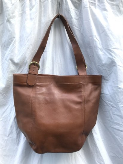 Old COACH Leather Tote Bag MADE IN TURKEY Good Condition Tan