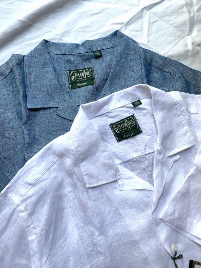 "GITMAN BROTHERS ""GITMAN VINTAGE"" Linen Open Collar Shirts MADE IN U.S.A SALE!! 17,800 → 14,240 + Tax"