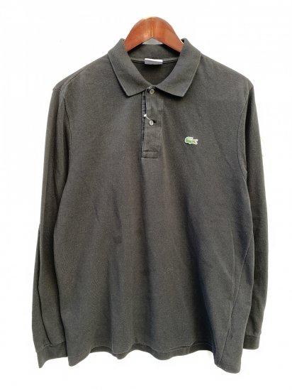 ~00's Vintage Lacoste L/S Polo Shirts Blcak