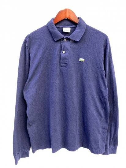 ~00's Vintage Lacoste L/S Polo Shirts Navy