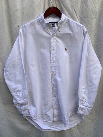 Old Ralph Lauren L/S Oxford BD Shirts White (SIZE : 15 1/2-33)