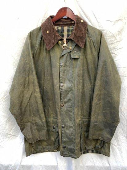 """3 Crest Vintage Barbour """"Beaufort Jacket"""" Made in England Olive (SIZE : 44)"""