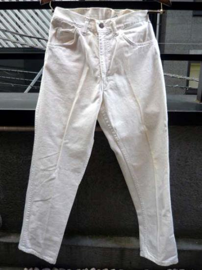 LEVI'S White Denim BIG E 60's Vintage