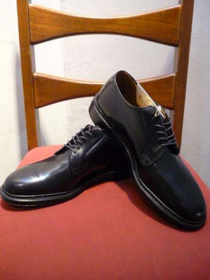 ALDEN  Cordovan Plain Toe Black