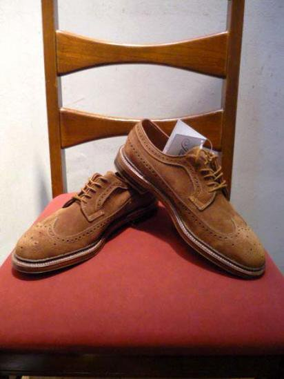ALDEN  Suede Long wing-tip