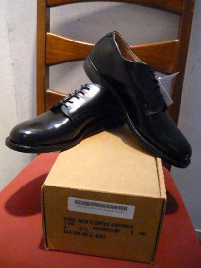 US MILITARY OFFICER SHOES 80'S DEAD STOCK
