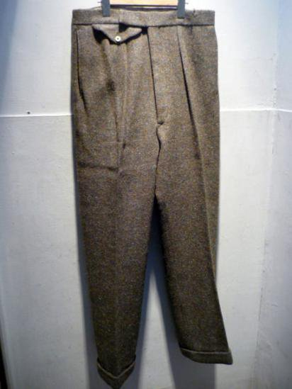 Made in ENGLAND Wool Pants 60'S Dead Stock