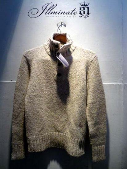RALPH LAUREN Half button Knit