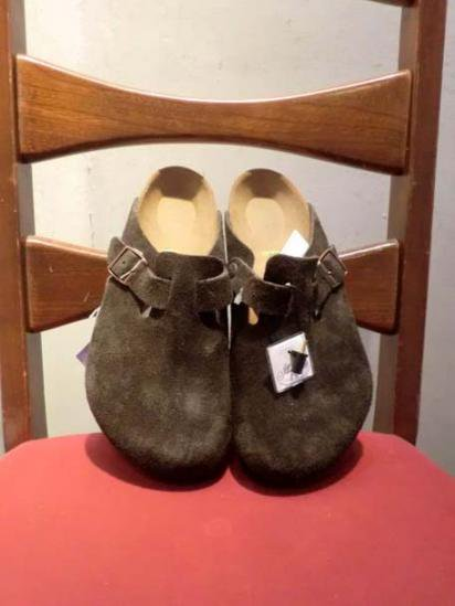 BIRKENSTOCK BOSTON SUEDE BROWN<BR>SALE! 14,800 + Tax → 10,360 + Tax