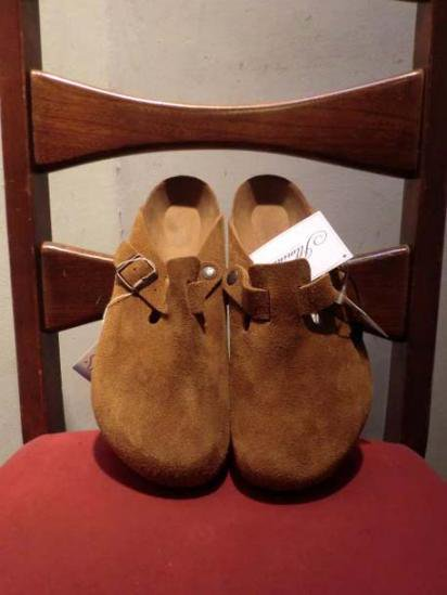 BIRKENSTOCK BOSTON SUEDE Camel
