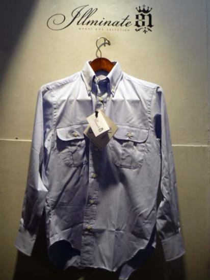 INDIVIDUALIZED SHIRTS Twill W-pk  illminate別注 Sax