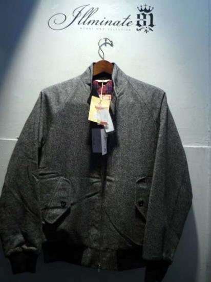 BARACUTA G-9  Jacket Wool Tweed Quirt inner
