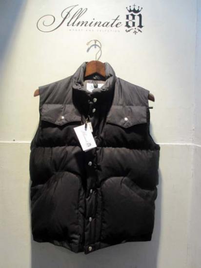 Crescent Down Works 4 Pocket Italian Vest Black