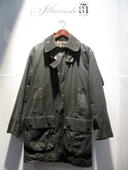 BARBOUR Border  80's Vintage Navy