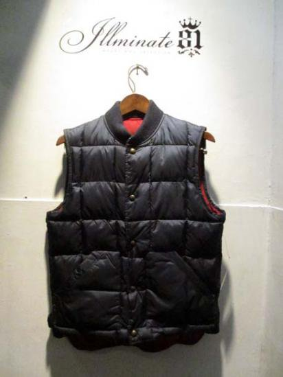 American Living   Reversible Down Vest  Navy/Red