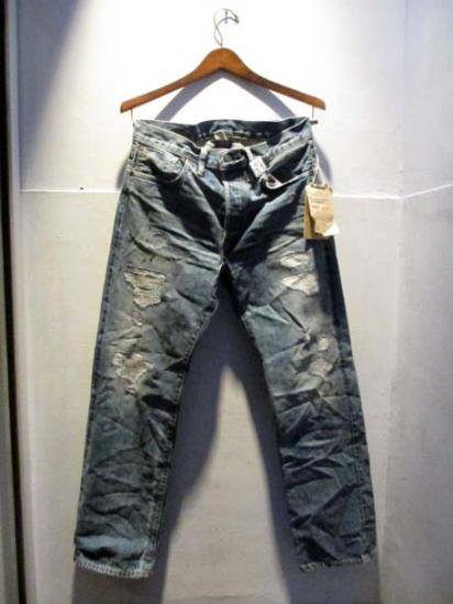 RRL Straight Leg Damage Denim