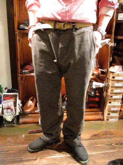 RRL Stripe Work Pants/ RRL Hickory Work Pants style sample