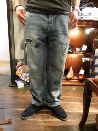 RRL Dameged Carpenter Work Pants style sample