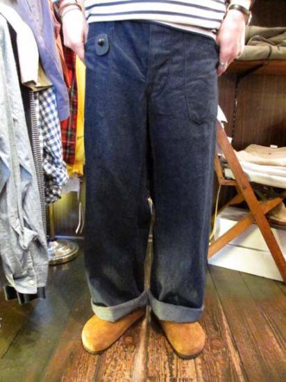US Navy Denim Pants 40's Vintage 巻きタイプ Style sample