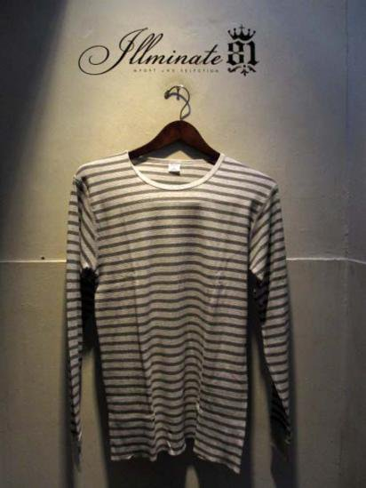 Gicipi Cotton Waffle Crew L/T Made in ITALY L.GRAY x GRAY