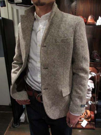 Ralph Lauren Tweed Jacket Boy's Made in Italy Style sample