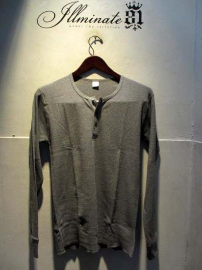 Gicipi Cotton Waffle Henley L/T Made in Italy GRAY