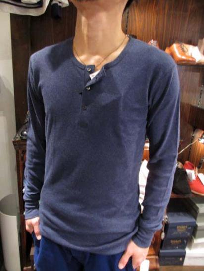 Gicipi Cotton Waffle Henley L/T Made in Italy Style Sample