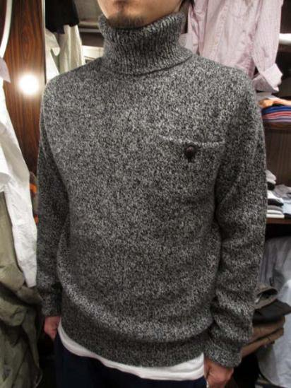 RRL Marble Turtle-Neck KNIT Style Sample