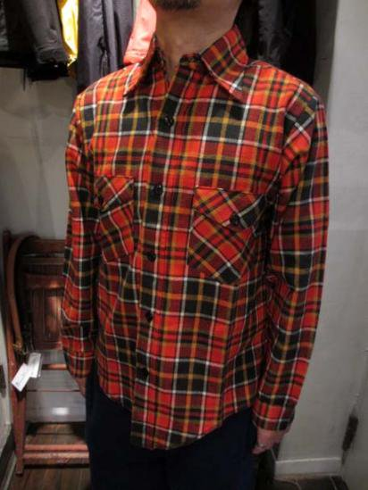 60-70's Dead Stock FROSTPROOF Flannel Shirts  Style Sample