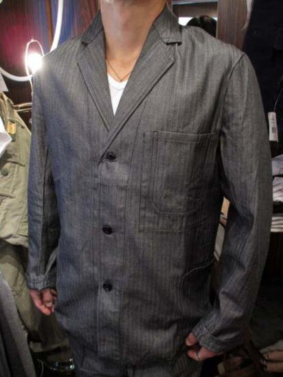 Euro Herringbone jacket 40-50's Vintage Dead stock  Style sample