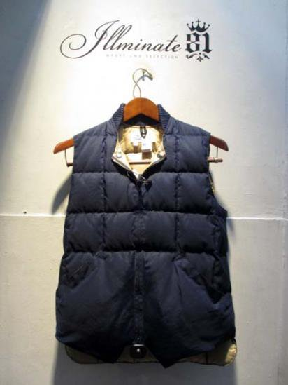 Crescent Down Works Quilted Down Vest illminate別注 Navy