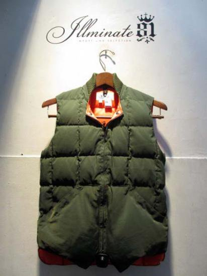 Crescent Down Works Quilted Down Vest illminate別注 Olive
