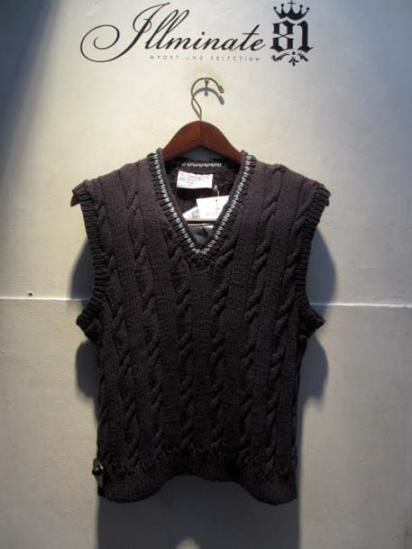 INVERALLAN Cotton Knit Vest
