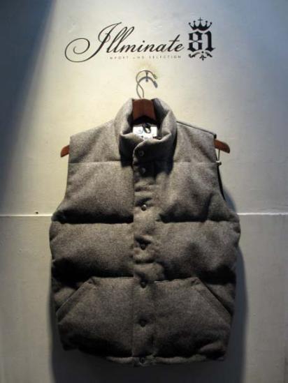 Crescent Down Works Wool Italian Vest Gray