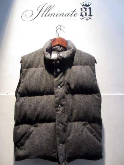 Crescent Down Works HB Wool Italian Vest Chacoal
