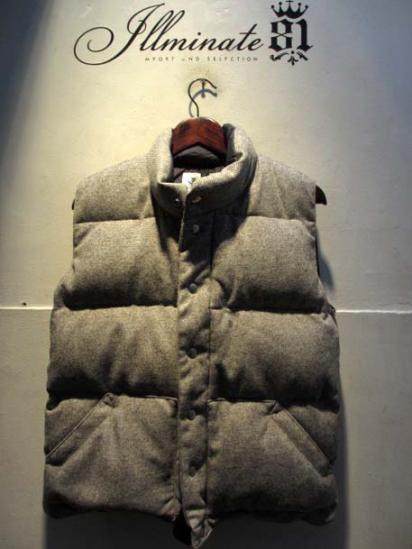 Crescent Down Works HB Wool Italian Vest L.gray