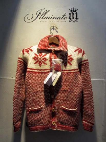 INVERALLAN  Lumber Cardigan snow flake Red