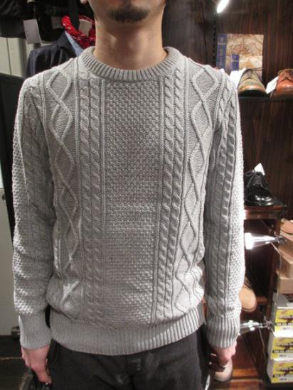 J.Crew Cotton Cable Knit Sweater Style Sample