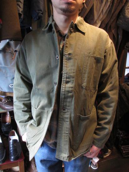 40's Vintage US Navy P-1941 HBT Jacket   Style Sample