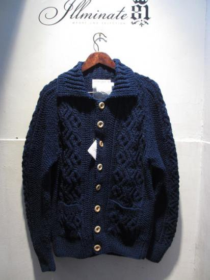 INVERALLAN 3A Cardigan Hand Knit in Scotland
