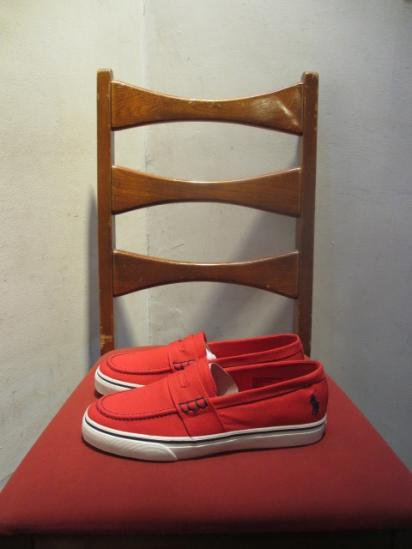 Ralph Lauren Loafer Type Sneaker MANSHEIM PENNY Red<BR>SALE! 7,800 + Tax → 4,680 + Tax