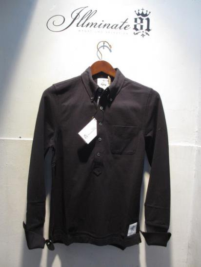 BLACK FLEECE by Brooks Brothers Long/s B.D Polo Black