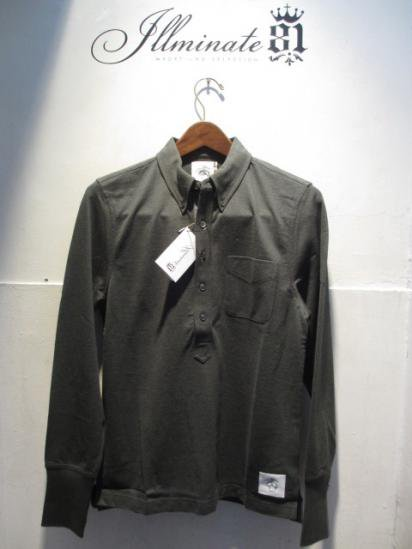 BLACK FLEECE by Brooks Brothers Long/s B.D Polo Olive