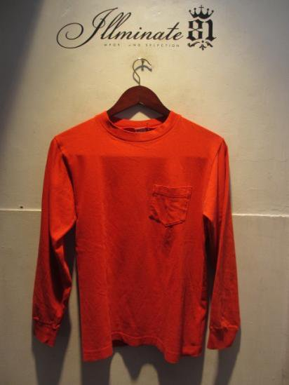 80's Champion L/S Pocket Tee Made in U.S.A