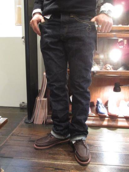 RRL Slim Boots cut One wash Made in U.S.A Style sample