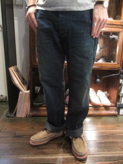 RRL 30's US Army Type Denim Pants Style Sample